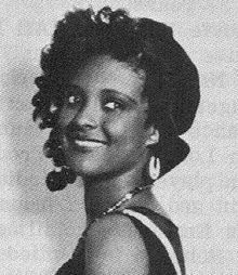 "Actress Nina Mae McKinney known in the 1930's as ""The Black Garbo."""