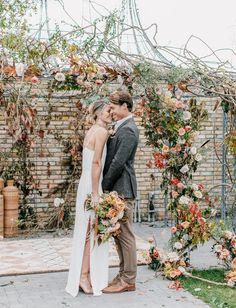 0c617b9226c Modern Black Tie Bohemian Meets Rustic Fall Wedding at Terrain Gardens -  Green Wedding Shoes Bohemian