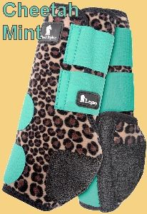 The Classic Equine Mint Cheetah Legacy Boots are made of perforated neoprene, allowing the leg to breathe and heat to escape so your horse's legs stay cooler. The shock absorbing splint pad gives ultimate protection to the splint bone, tendons, an Horse Boots, Equestrian Boots, Equestrian Outfits, My Horse, Horse Riding, Equestrian Fashion, Horse Tips, Equestrian Style, Riding Gear