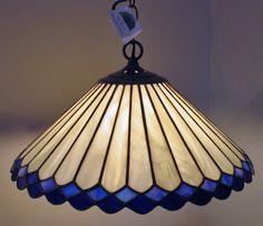 Hanging White & Blue Lamp