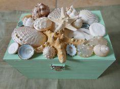 Beach Decor Seashell Jewelry Box Jewelry Box by ShellsUnlimited, $35.00