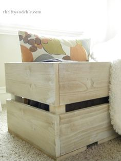 Thrifty and Chic: DIY Simple Crate. I need to get back into wood-working.