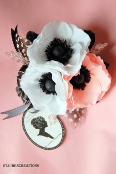 Ramo de novia anémona o ramillete y boutonnierres de seda o flores frescas alternativa