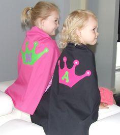 Cute idea for princess cape via Etsy.