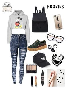 """""""Micky Mouse Fun House ™"""" by xcelestex on Polyvore featuring Topshop, Puma, Casetify, Deandri, adidas, Maybelline, Chanel and Gucci"""