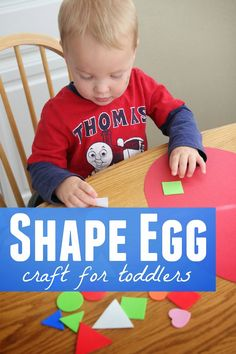 Toddler Approved!: Shape Egg Craft for Toddlers