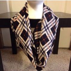 A personal favorite from my Etsy shop https://www.etsy.com/listing/259512479/argyle-print-infinity-scarf-womens