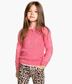 Pink Fine Knit Jumper Product Detail | H&M GB £5.99