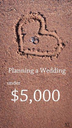 Planning a wedding under $5000