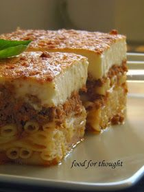 Food for thought: Παστίτσιο Cookbook Recipes, Dessert Recipes, Cooking Recipes, Food For A Crowd, Greek Recipes, Food For Thought, Food Dishes, Crockpot Recipes, Food And Drink