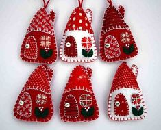 handmade christmas trees pinterest | Best 25+ Felt fabric ideas on Pinterest | Ribbon flower ...