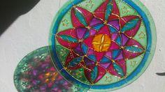 Mandala en vidrio, 20cm