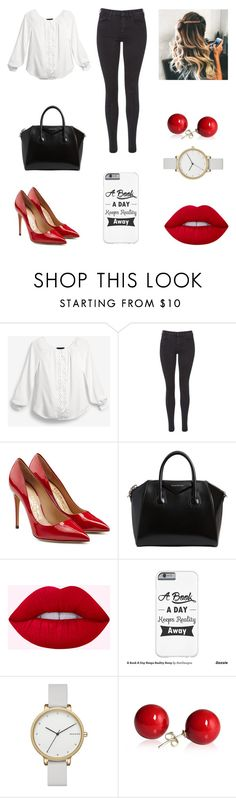 """""""Untitled #243"""" by niniber002 ❤ liked on Polyvore featuring White House Black Market, Maison Scotch, Salvatore Ferragamo, Givenchy and Skagen"""