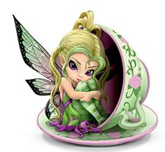 Jasmine Becket Griffith Tiny Cu-Tea - Tiny Treasures Teacup Fairies Figurine