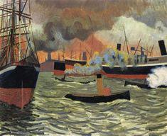 Hamburg's Port by Auguste Herbin