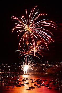 Festejos del año nuevo 2009 en Sydney, Australia. de Yury Prokopenko