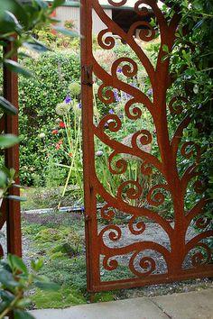 The secret garden, which I didn't find until the second time around the garden.