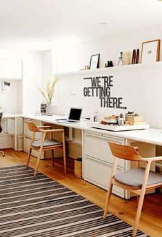 20 Modern Office Space Design That Attract The Best Employees – Office İnterior Workspaces Office Space Design, Home Office Space, Office Workspace, Office Walls, Home Office Furniture, Home Office Decor, Home Decor, Office Art, Office Ideas