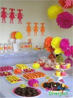 Encontrando Ideias: Festa só para Meninas!!!