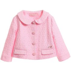 Girls Pink Brocade Short Jacket, Liu Jo, Girl