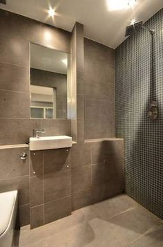Beautiful lighting and super functional wet room.