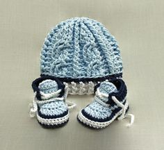 Take advantage of this Two-Pattern listing and Save!  This listing contains 2 Patterns and includes 4 PDF files for the ** Pattern** to this adorable Crochet Cable Twist Hat and matching Baby Sneakers! Pattern Info ************* Sizes: Booties: Newborn, 0-3 Mos, 3-6 Mos, 6-12 Mos and 12- 18 Mos Hat: Newborn, 0-3, 3-6, 6-12, 12-24 Mos  Level of difficulty: Beginner to intermediate. Written in US terms. I love pictures so I include many of them along with detailed explanations to help make…