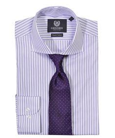 Lilac Stripe Slim Fit Shirt