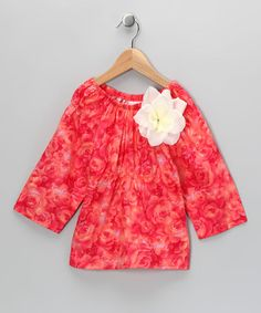 Take a look at this Coral Rose Peasant Top - Infant, Toddler & Girls by Carolina Kids on #zulily today!