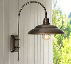 Shop outdoor lighting from Pottery Barn. Our furniture, home decor and accessories collections feature outdoor lighting in quality materials and classic styles. Garage Lighting, Porch Lighting, Barn Lighting, Home Lighting, Outdoor Lighting, Lighting Ideas, Backyard Lighting, Sconce Lighting, Kitchen Lighting