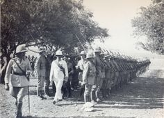 Inspection of Guard of Honour: Haifa [9th] July 1920