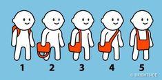 Test surprenant : Nos habitudes quotidiennes, comme la façon dont nous portons notre sac, peuvent en dire beaucoup sur notre personnalité. Voici un test simple qui saura vous surprendre.Choisissez simplement le chiffre qui porte un sac comme vous le faites, puis lisez le résultat ci-dessous.