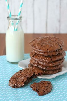 Gluten-Free Chocolate Cookies!  Rich, Fudgy and so delicious!  glorioustreats.com