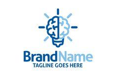 Logo for sale: Brain Bulb Logo
