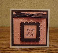 Indiana Inker - Valentine's Day Mini Card  Stampin' Up!