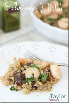 Shrimp Quinoa is a simple and healthy dinner recipe!