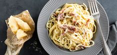 Pasta carbonara and various simple pasta recipes Carbonara With Egg, Carbonara Recept, Sauce Spaghetti, The Last Meal, Recipe Sites, Soup And Sandwich, Meals For One, Side Dishes, Bolognese