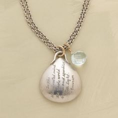 """Love this necklace. I want it! """"To the illuminated mind the whole world burns and sparkles with light."""" Emerson"""