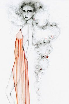 Watercolor Painting OOAK Fashion Illustration by ABitofWhimsyArt, $500.00