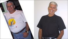 His photo is posted here: http://www.beautifulonraw.com/raw_food_transformations_before_and_after.html