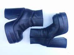 Chunky 90s Leather Platform Boots by shopCALIFORNIAGIRLS