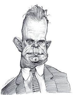 Artist:Jan Op De Beeck   Caricature:John Dillinger