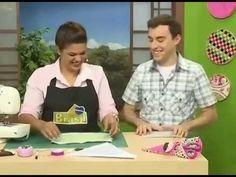 Programa Arte Brasil - Porta tesoura de tecido - Renata Silva - Rogério ...