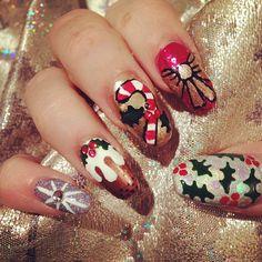 effy-nails christmas  #nail #nails #nailart