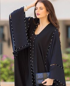 PINNED BY @MUSKAJAHAN - ABAYA - KHALEEJI STYLE Abaya Fashion, Muslim Fashion, Modest Fashion, Fashion Dresses, Kaftan Abaya, Caftan Dress, Mode Abaya, Mode Hijab, Iranian Women Fashion