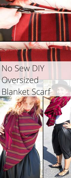 DIY No Sew Oversized