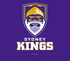 This is my rebrand concept for the Sydney Kings Basketball Club. A well known sporting team, with strong heritage. The Kings logo hasn't changed much over the years, and this is my fresh take on the club's identity. Basketball Logo Design, Logo Desing, Sports Team Logos, Team Mascots, Typo Logo, School Logo, King Logo, Logo Inspiration, Branding Ideas