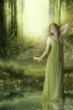 ≍ Nature's Fairy Nymphs ≍ magical elves, sprites, pixies and winged woodland faeries - Between two worlds by *Iardacil on deviantART