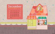 Le lapin dans la lune - Non dairy Diary - December calendar