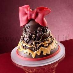 Mould for Chocolate Christmas Bell www.decosil.eu -  Stampo per campana di cioccolato www.decosil.it - Moules à chocolat pour Cloche de Noël  www.decosil.fr