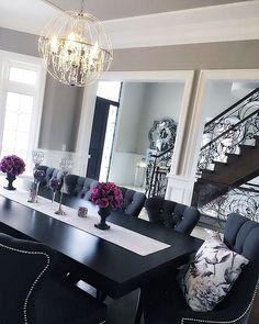Grey Dining Room Grey Dining Room Ideas Grey Dining Room Grey Dining Room #GreyDiningRoom